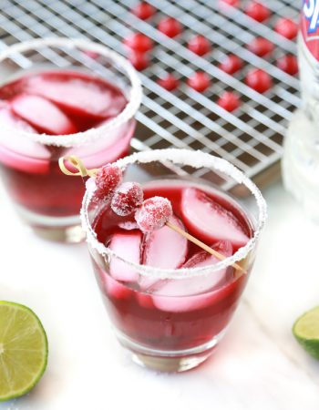 cranberry fizz mocktail