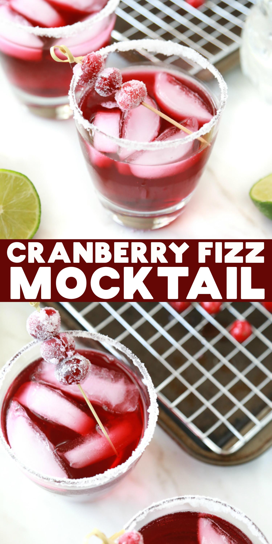 cranberry fizz mocktail