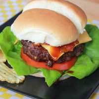 All-American Grilled BBQ-Bacon Cheeseburgers