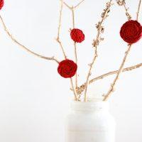Easy Valentine's Day Tree Centerpiece