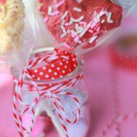 Heart Shaped Rice Krispies Pops