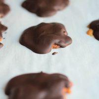 Homemade Dark Chocolate Turtles