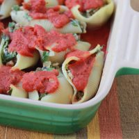 Italian Sausage, Spinach and Ricotta Cheese Stuffed Shells