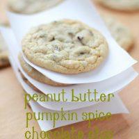 Peanut Butter Pumpkin Spice Chocolate Chip Cookies