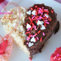 Valentine's Day Rice Krispies Heart Treats