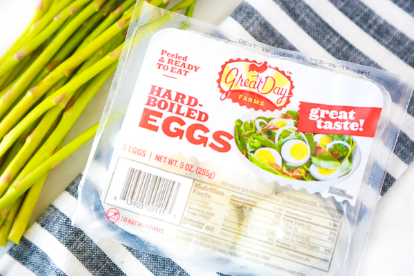 low carb asparagus bacon and egg salad