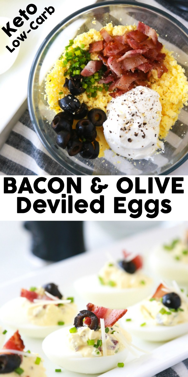 bacon olive deviled eggs
