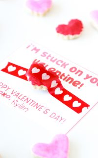 i'm stuck on you valentine favor