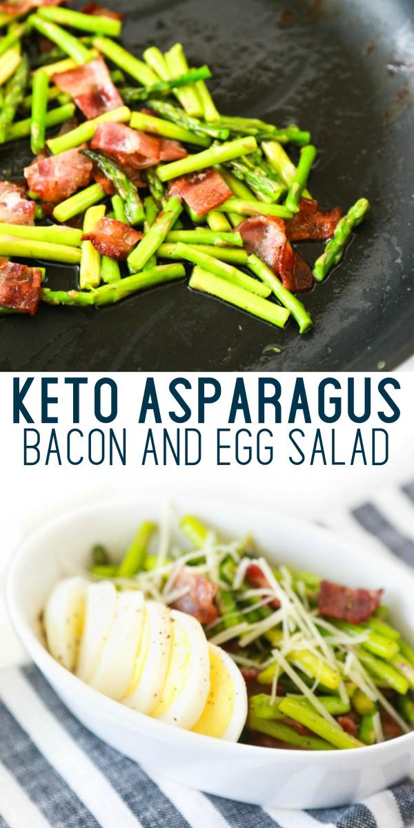 keto asparagus bacon egg salad