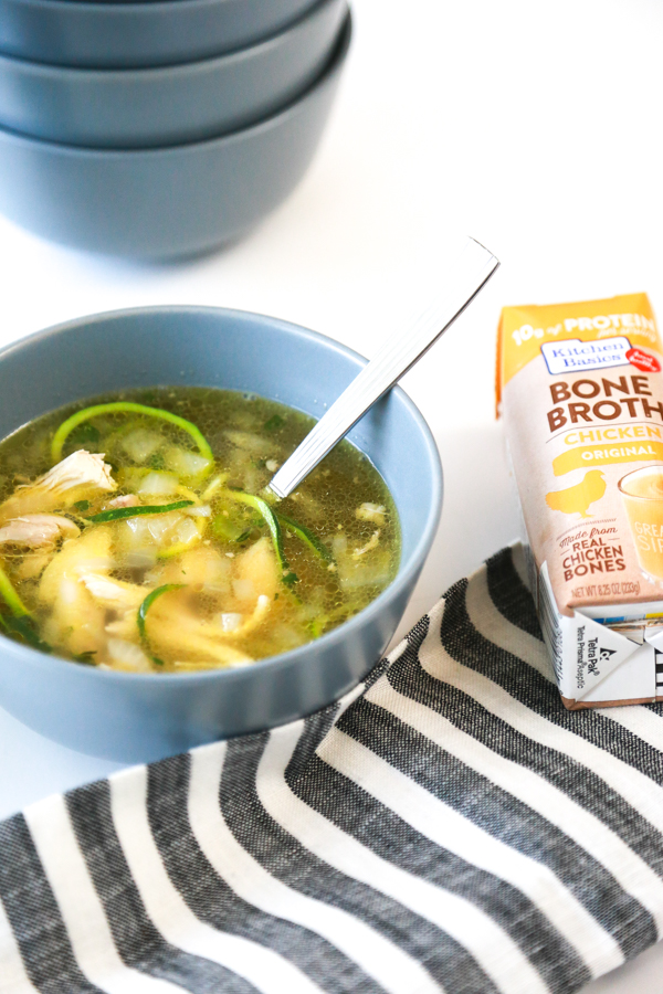 keto chicken zoodle soup