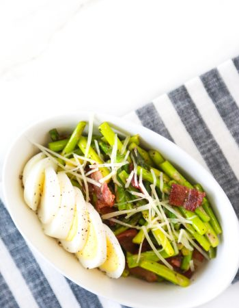 low carb asparagus bacon egg salad