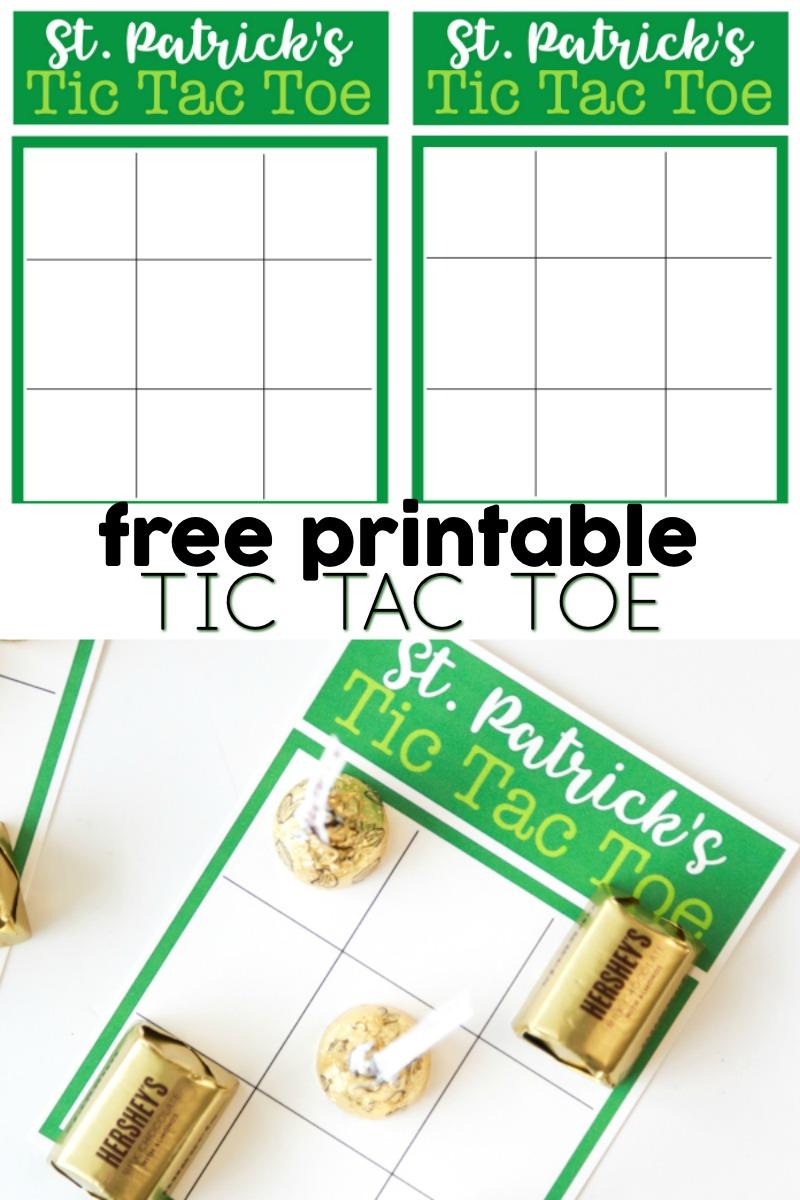 free tic tac toe printable