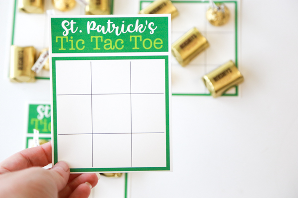 photo regarding Free Printable Tic Tac Toe Board named St. Patricks Working day Tic Tac Toe Printable Only Staying Mommy