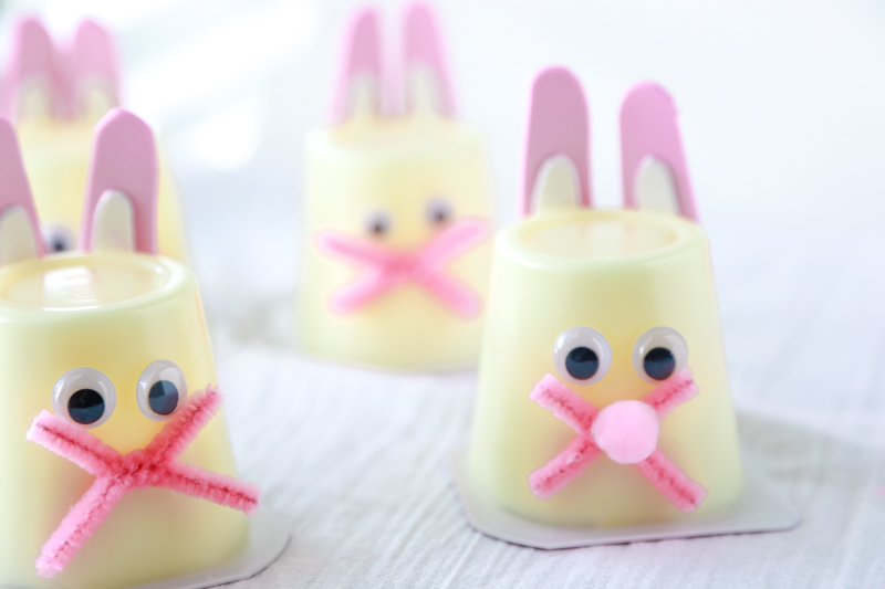 bunny pudding cups for easter