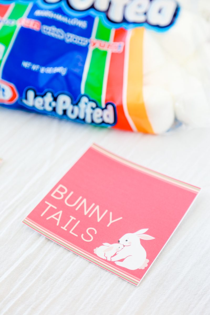 bunny tail easter printable