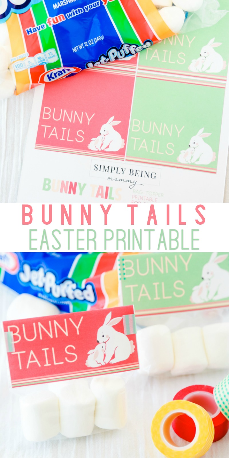 photo regarding Pin the Tail on the Bunny Printable called Cost-free Bunny Tails Easter Printable Effortlessly Currently being Mommy