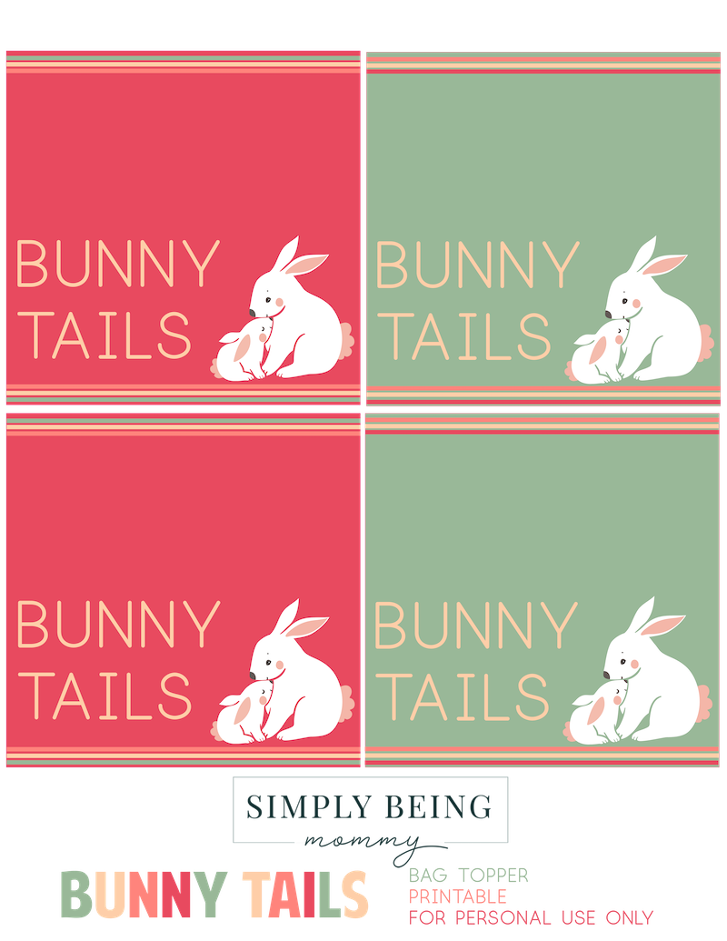 bunny tails easter printable