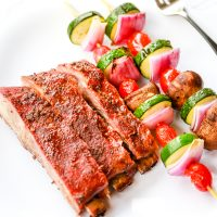 Low Carb Grilled Pork Spareribs