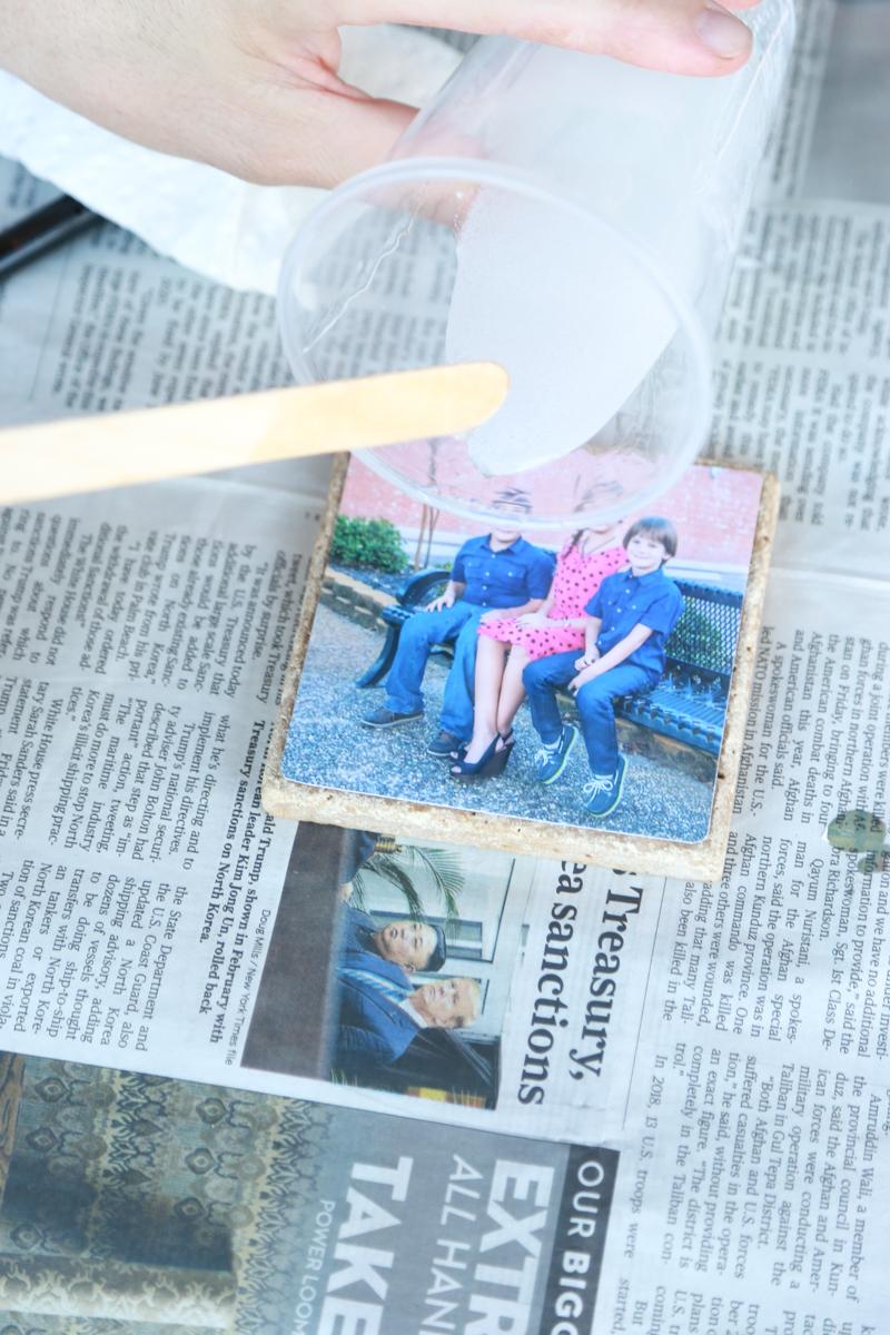 homemade photo coasters