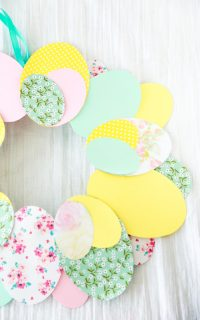 diy paper egg wreath