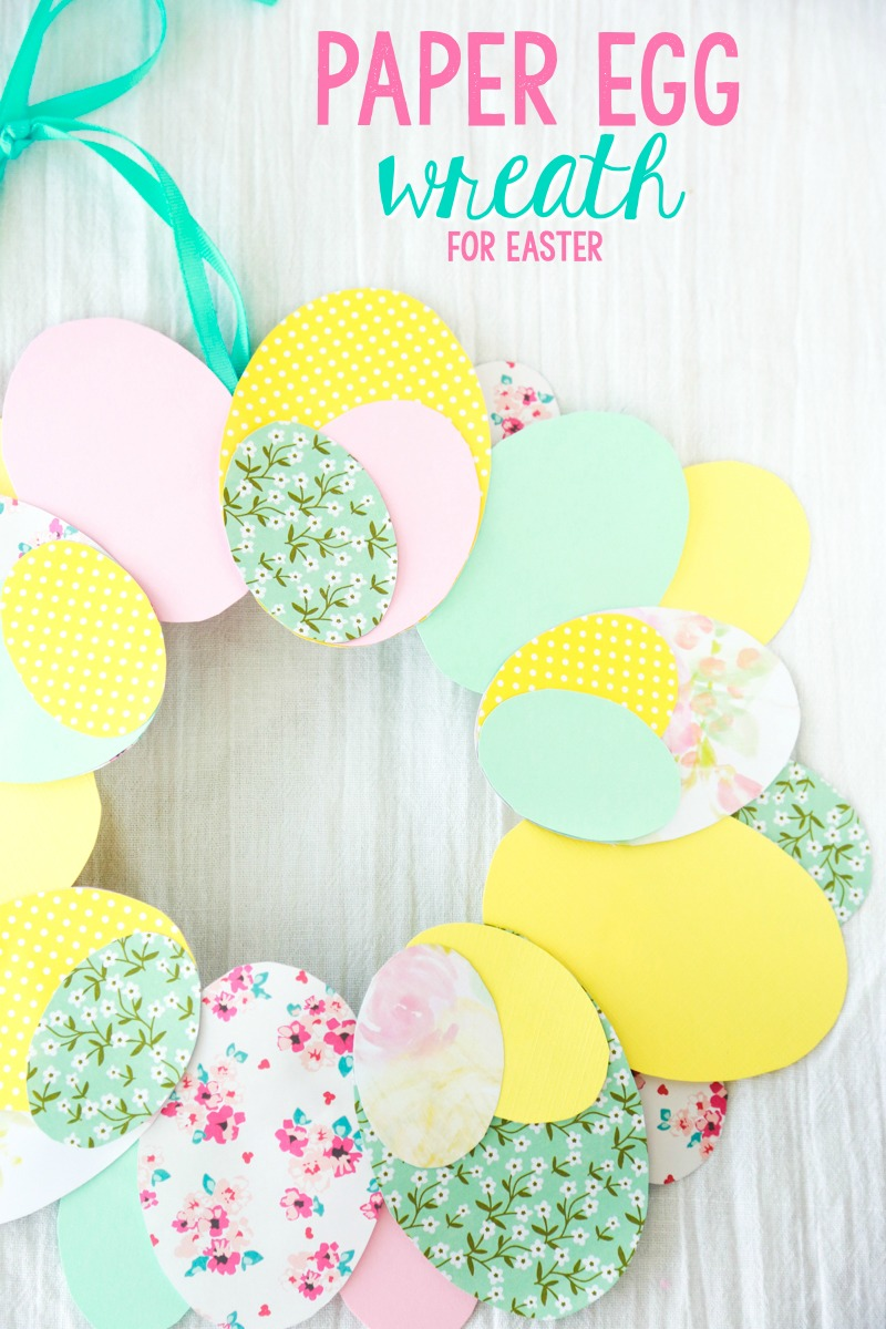 paper egg easter wreath