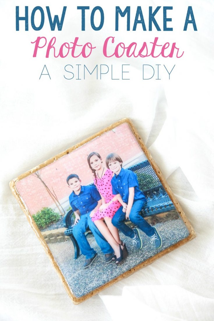I love having photos of my family displayed throughout my home. These DIY Photo Coasters are a great way to utilize space not normally used for photos. #diy #homemade #photo #photoart #photocoasters
