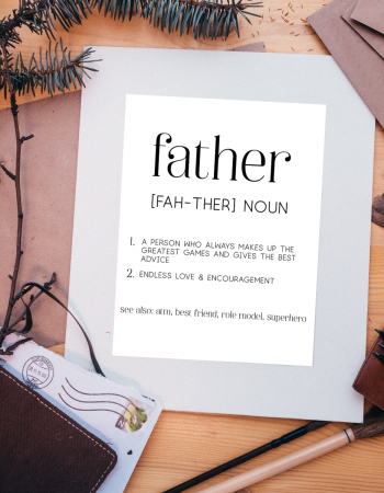 father definition printable