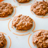 Chocolate & Peanut Butter No Bake Keto Cookies