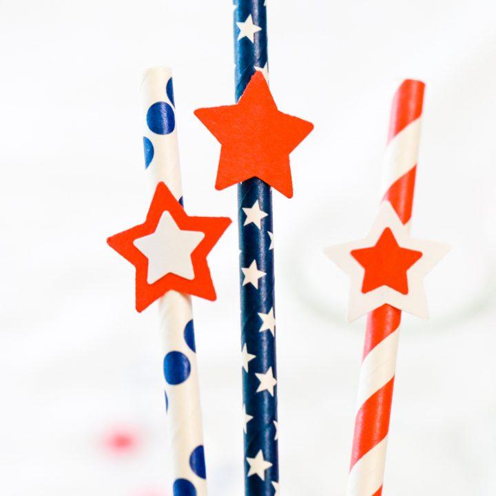 patriotic straws