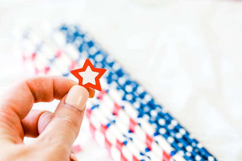 patriotic straws diy