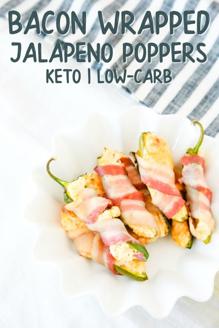 These delicious jalapenos stuffed with cream cheese and then wrapped with bacon are the perfect little treats for your taste buds. Talk about the perfect Game Day food. #gameday #footballsunday #jalapenopoppers